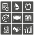 Business time icons vector | Price: 1 Credit (USD $1)