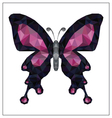 Butterfly low polygon vector image vector image