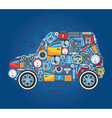Car Shape Concept Background vector image
