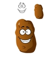 Cartoon fresh potato with a beaming smile vector image vector image
