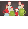 Christmas family portrait Family holidays vector image