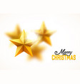 christmas gold yellow stars background blurred vector image vector image