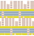city skyscrapers and road street seamless pattern vector image vector image