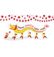 CNY Dragon Dancing Panorama vector image