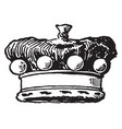 coronet is a barons crown vintage engraving vector image vector image