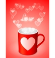 Cup with Hearts vector image vector image