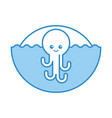 cute octopus isolated icon vector image vector image