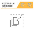 data analytics editable stroke line icon vector image