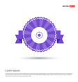 disc icon - purple ribbon banner vector image vector image