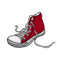 drawing shoes vector image vector image