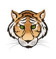 emerald green eyes tiger portrait predator vector image vector image