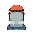face mask safety vector image vector image