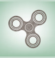 fidget spinner sign brown flax icon on vector image