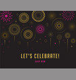 fireworks and celebration victory poster design vector image vector image