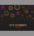 fireworks and celebration victory poster design vector image vector image