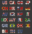 Flag - Countries - Abbreviation vector image vector image