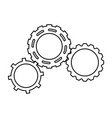 gears engineering mechanical wheel cogs vector image vector image