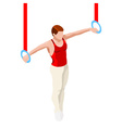Gymnastics Still Rings 2016 Sports 3D vector image vector image