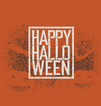 halloween abstract logo halloween party vector image vector image