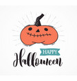 halloween party hand drawn modern set vector image vector image