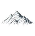 hand drawn mountain vector image
