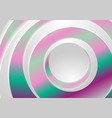 holographic abstract rings circles geometric vector image vector image