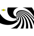 hypnotic spiral pattern with optical vector image