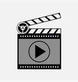 icon film media player vector image