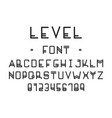 level font alphabet vector image vector image