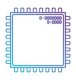 microchip closeup icon in color gradient vector image
