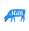 milk cow dairy vector image vector image