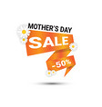 mothers day sale label holiday shopping discount vector image vector image