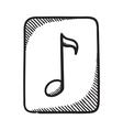 Multimedia music audio note symbol vector image