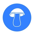 Mushroom icon black Singe vegetables icon from vector image vector image