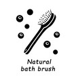 natural bath brush glyph icon vector image vector image