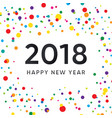 new year design with colorful background vector image