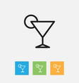 of cook symbol on cocktail vector image vector image