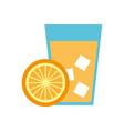 orange tropical fruit beverage vector image
