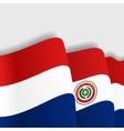 Paraguayan waving Flag vector image vector image