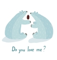 Polar Bears Love and Ice Cream vector image vector image