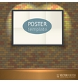 Poster template with frame Easy to edit vector image vector image