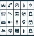 ramadan icons set with candle sadaqah room hijab vector image vector image