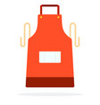 red kitchen apron flat isolated vector image