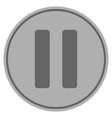 roman two silver coin vector image vector image