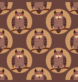 seamless pattern with birds owls on the vector image vector image