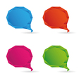 Set Low poly geometric speech bubble vector image vector image