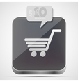 Shopping app icon vector image vector image