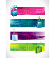shopping headers set of four vector image