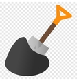 Shovel isometric 3d icon vector image vector image