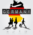 Silhouette people on germany digital board vector image